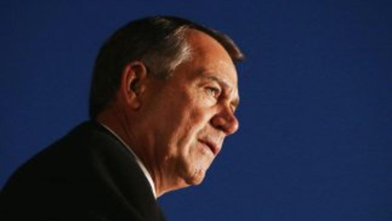 El presidente del Congreso, John Boehner (republicano de Ohio), pieza cl...