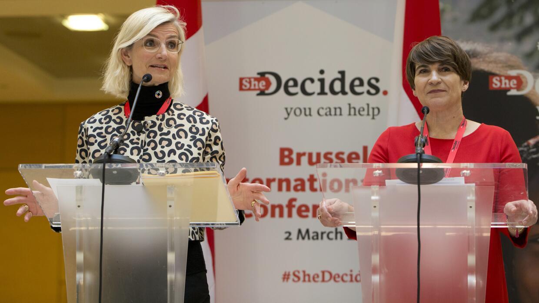 La Ministra de Comercio y Cooperación para el Desarrollo de Holanda, Lil...