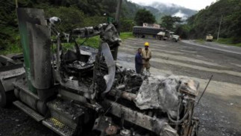 Un alto jefe policial murió en un atentado de las FARC.