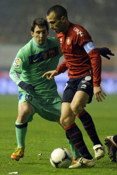 Para el segundo tiempo, Lionel Messi entró al campo para jugar algunos m...