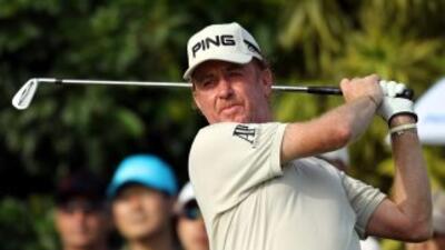El golfista español Miguel Ángel Jiménez debutó en el tour de Europa en...