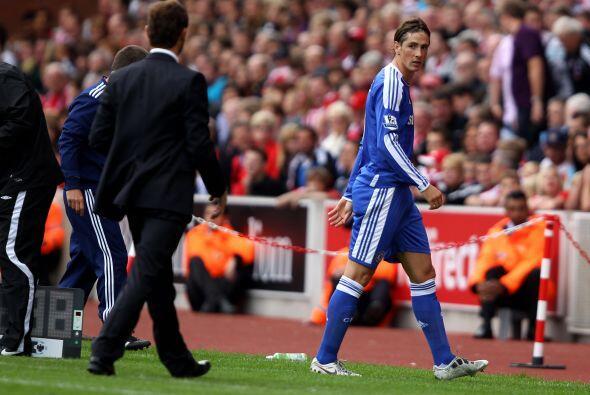 Torres terminó saliendo de cambio ante su falta de suerte de cara al arc...