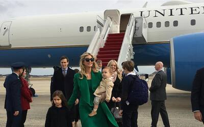 Así registó la hija mayor de Donald Trump su llegada a Was...
