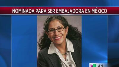 El presidente Barack Obama nominó como posible embajadora en México a Ma...