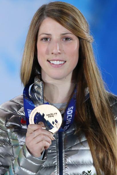 La estadounidense Erin Hamlin ganó bronce en la prueba de Luge. A...