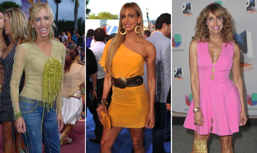 Miremos el estilo de Lili Estefan a lo largo de Premios Juventud ahora.