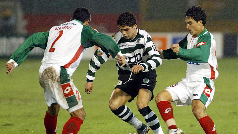 Cristiano Ronaldo a los 17 años con el Sporting de Lisboa.