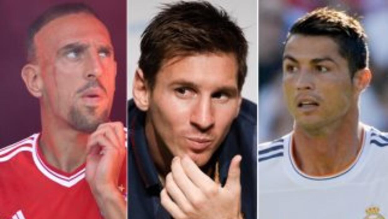 Ribery, Messi y Ronaldo son los candidatos a mejor jugador de Europa.