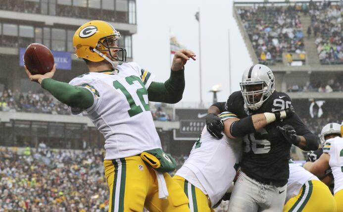 Los Green Bay Packers vencieron a los Oakladn Raiders, tercera victoria...