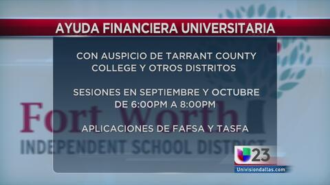 Ayuda financiera para universitarios