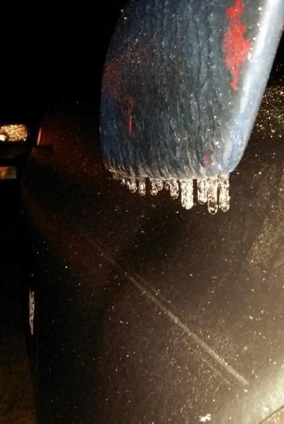 Amanece helado en Houston