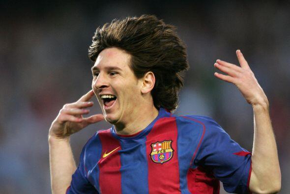 El tercer suceso en la vida de Leo fue su primer gol con el Barcelona, t...