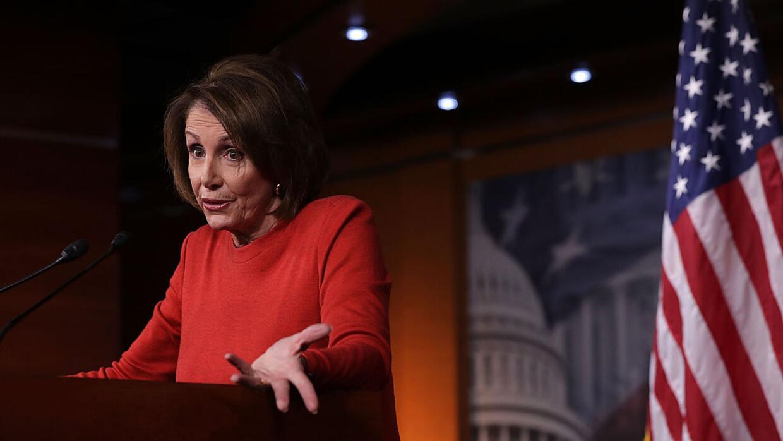 Nancy Pelosi, líder de la minoría demócrata en la C...