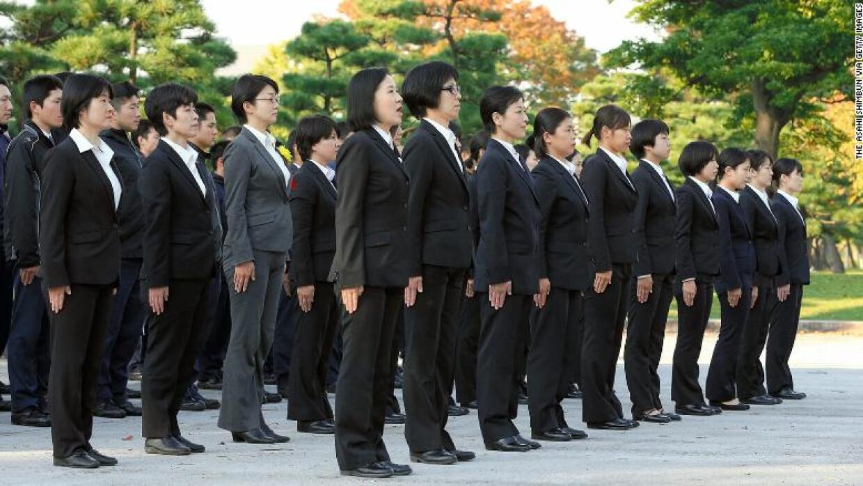Escuadrón de mujeres de la Policía Metropolitana de Tokio.