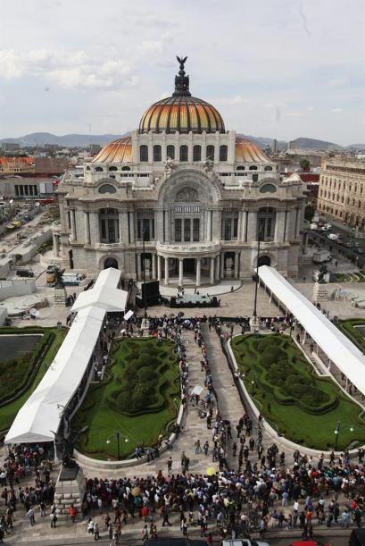 Así luce el palacio de bellas Artes en una vista aérea.