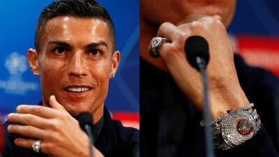 Los detalles del reloj millonario que lució Cristiano Ronaldo previo a la Champions