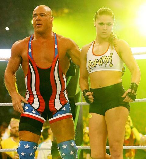 Ronda Rousey y Undertaker: íconos del Wrestlemania de WWE en 2018 captur...