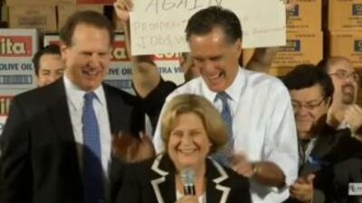 Ileana Ros-Lehtinen dio una energética presentación de Mitt Romney antes...