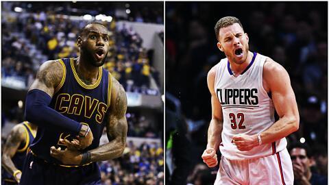 LeBron promedió 25.5 puntos y Griffin 26.