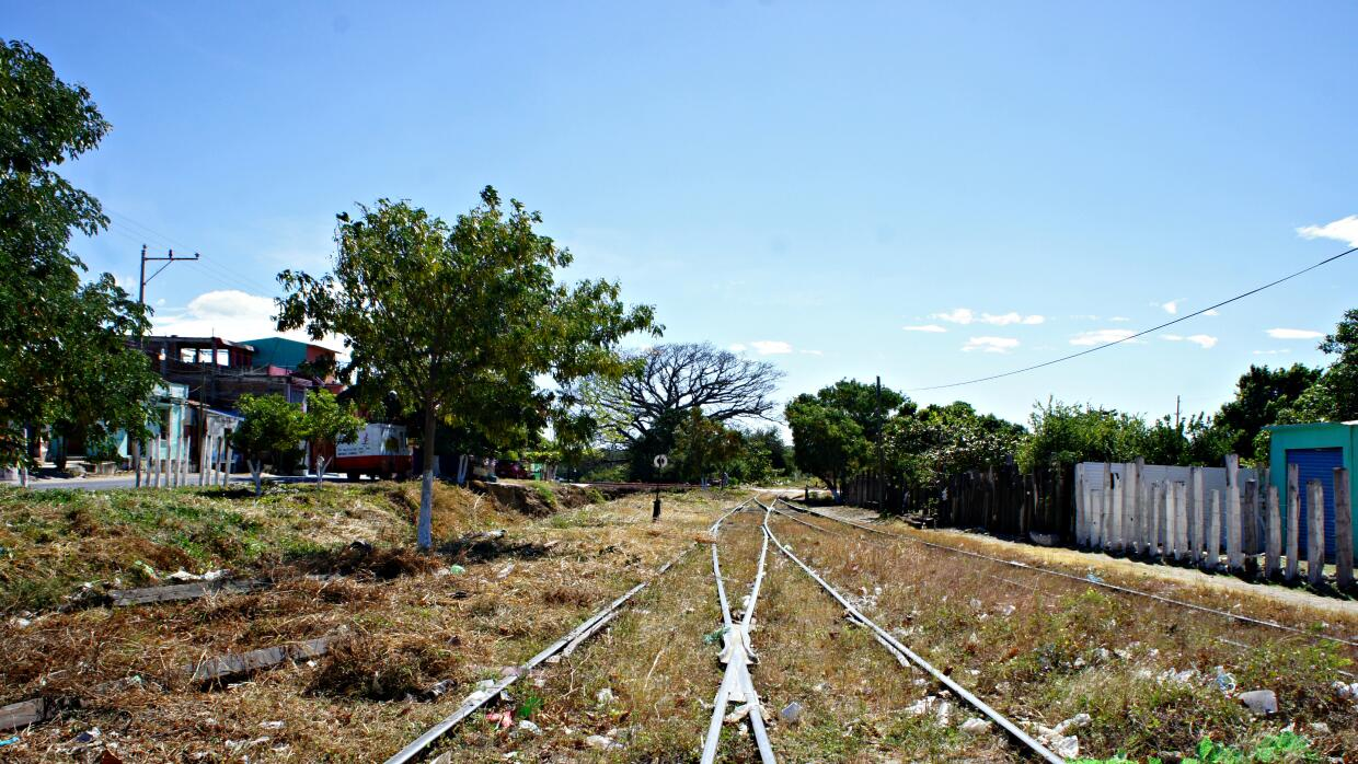 "The tracks of La Bestia, or ""The Beast,"" now largely abandoned..."