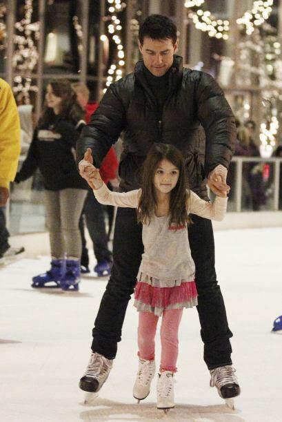 Aprendiendo a patinar.