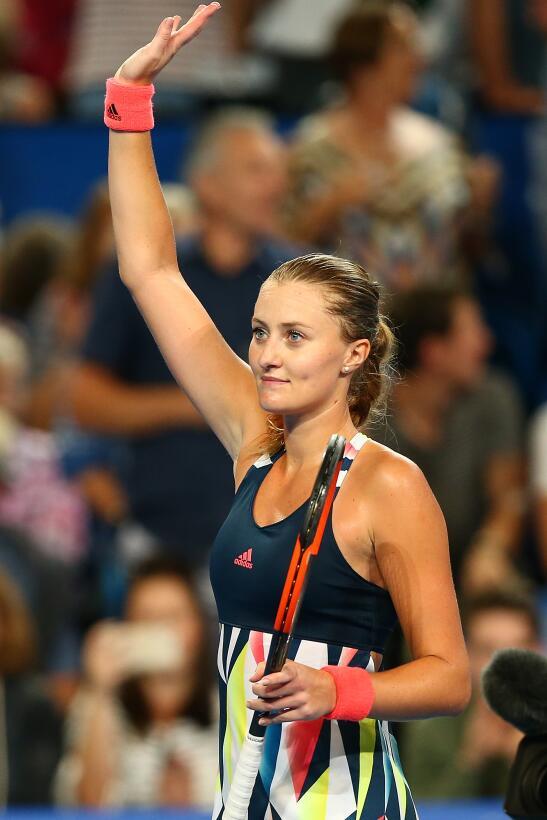 Kristina Mladenovic, la angelical ganadora de la Copa Hopman 2017 GettyI...