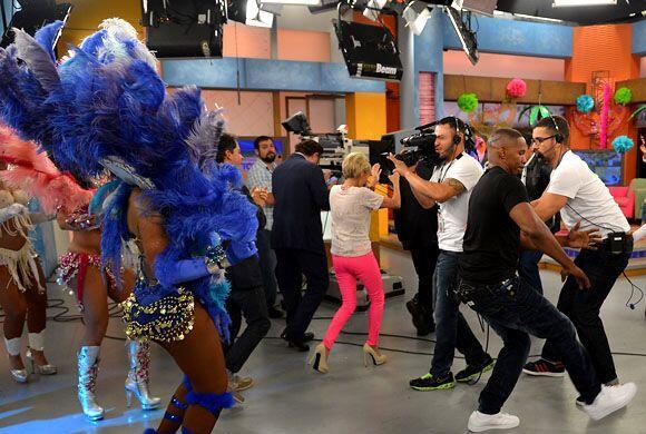 De esta forma los actores de Rio 2 se apoderaron del set de filmación.
