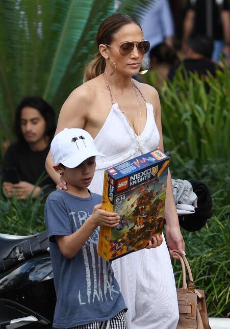 Jennifer Lopez con Max y Emme en Miami