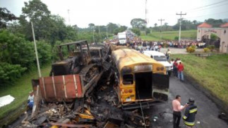 Un choque carretero dejó al menos 13 personas muertas en Honduras