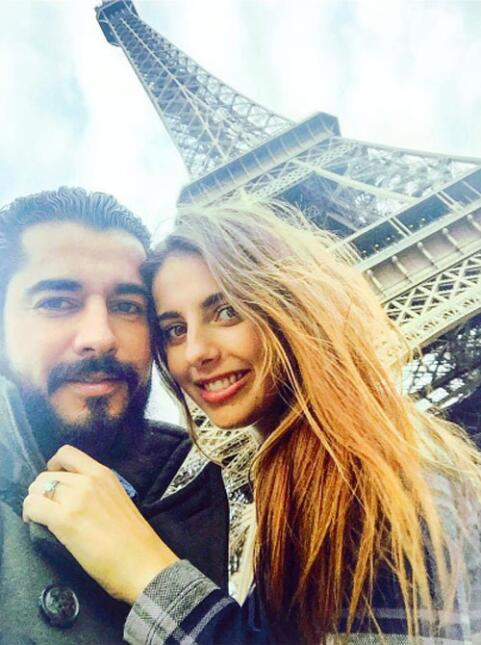Michelle Renaud y Josué Alvarado Luna de miel