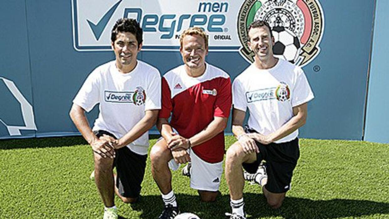 """Aquí lo ves con Jorge Campos y el """"Matador"""" Luis Hernández."""