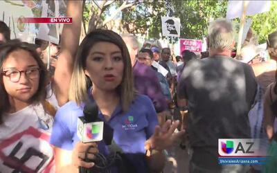 Protestas durante la visita de Donald Trump a Phoenix