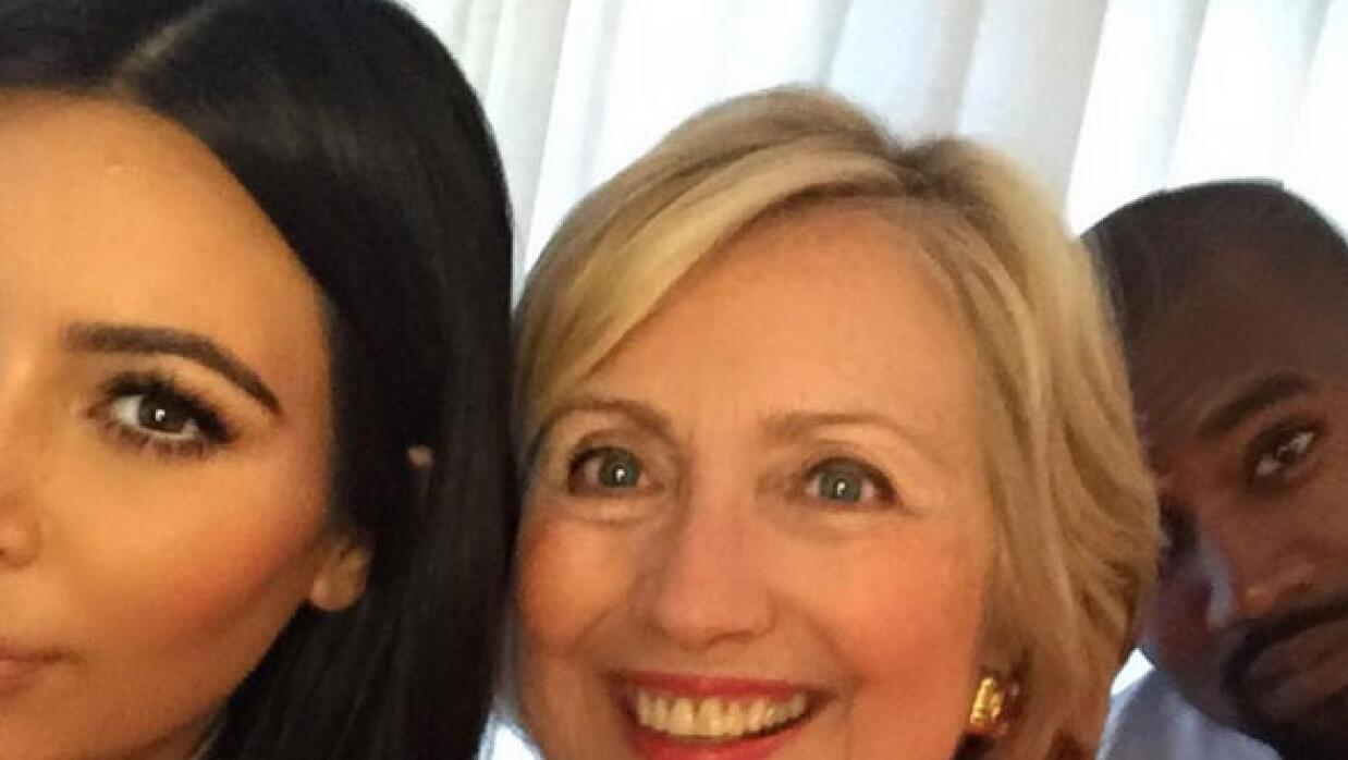 Kim y Hillary Clinton