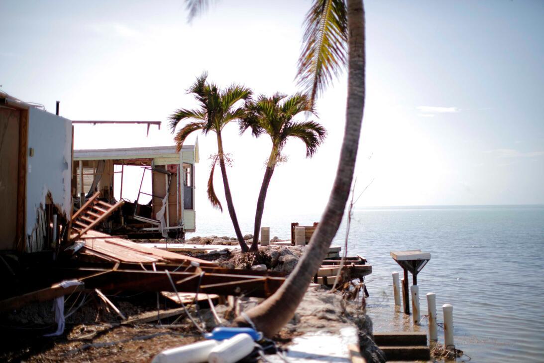 Destrucción en los Cayos de Florida.