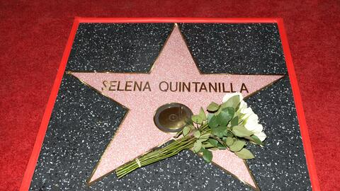 Singer Selena Quintanilla is honored posthumously with a Star on the Hol...