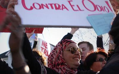 Musulmana, latina y mujer contra Trump: triplemente discriminada