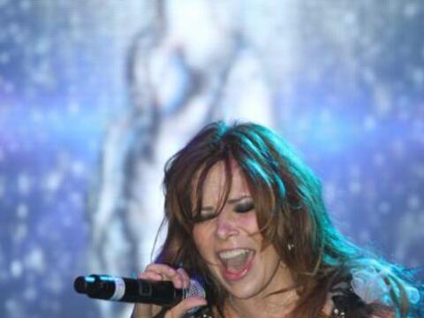 La cantante mexicana Gloria Trevi se presentó en Chicago, donde e...