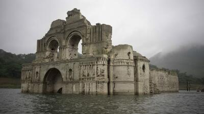 Los restos de una iglesia conocida como el Templo de Santiago