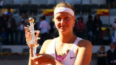 con el triunfo en Madrid, la checa Kvitova entrará por primera vez en su...
