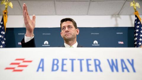 Paul Ryan, en un encuentro con republicanos en septiembre.