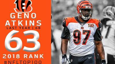 #63 Geno Atkins (DT, Bengals)   Top 100 Jugadores NFL 2018