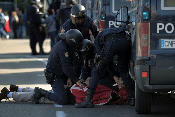 Los altercados han acabado con detenciones y heridos, la mayor parte de...