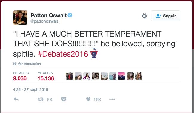 Los tuits más agudos sobre el debate Captura de pantalla 2016-09-26 a la...