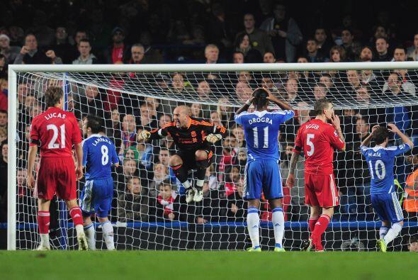 Chelsea tuvo una inmejorable opción de adelantarse, pero se falló mientr...
