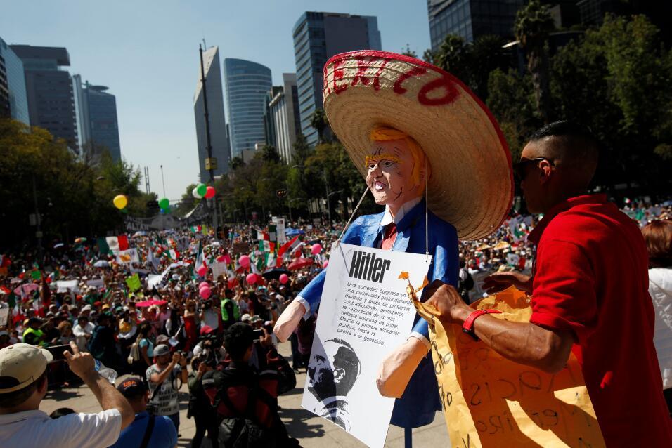 México protesta a Trump