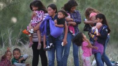 Indocumentados en la frontera entre México y Estados Unidos.