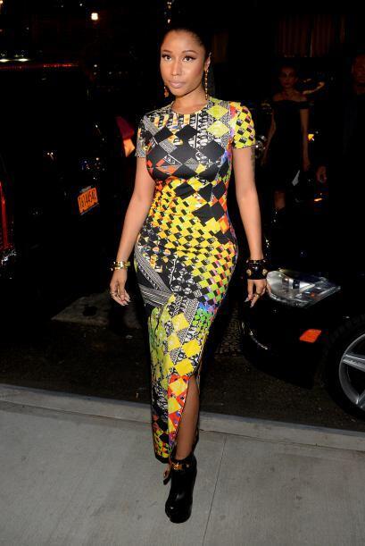 Nicky Minaj también hizo acto de aparición en el segunto día del Fashion...