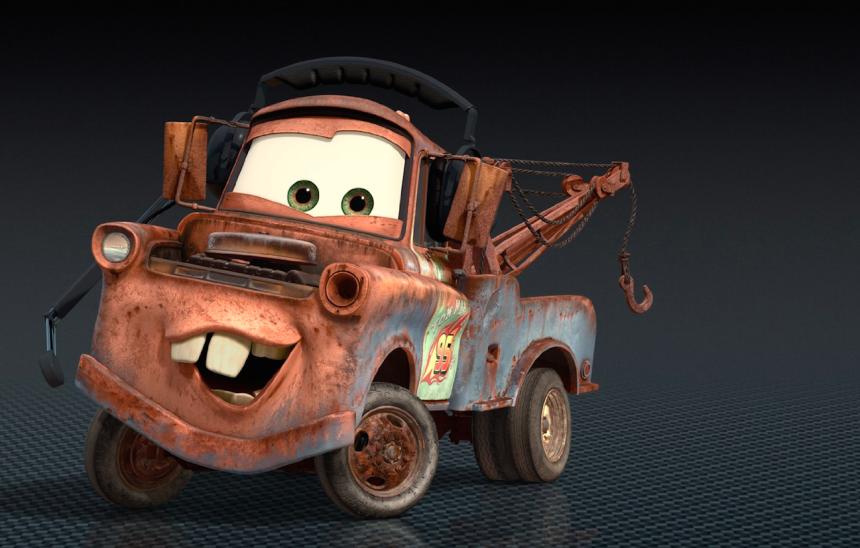 Mater es otro de los personajes de amplia participación en Cars, y por s...