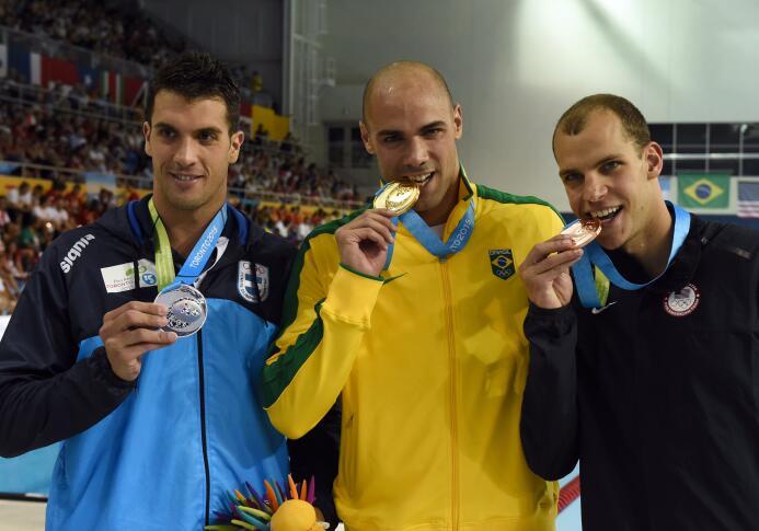 El nadador argentino Federico Grabich no pudo repetir oro el miércoles e...