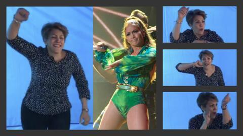 Si alguien se conoce las rutinas de baile de Jennifer López es su mamá G...